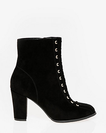 Lace-Up Round Toe Ankle Boot