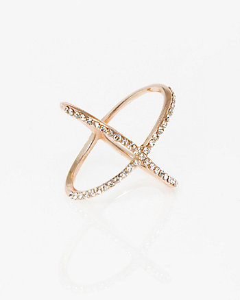 Criss-Cross Gem Ring