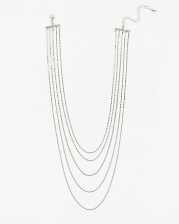 Multi-Strand Chain Necklace