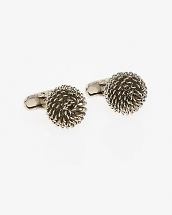 Metal Flower Cufflinks