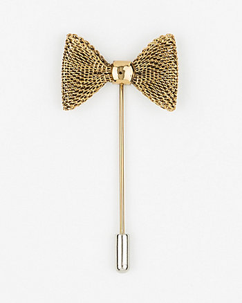 Metal Bow Lapel Pin