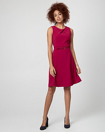 Double Weave Crew Neck Dress