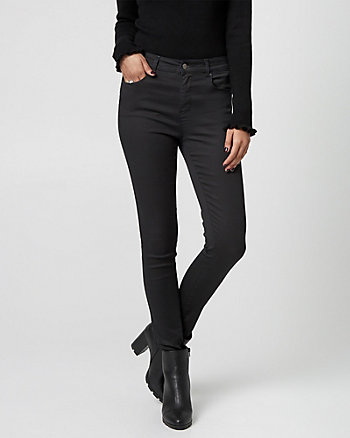 Wax Coated Denim Skinny Leg Pant
