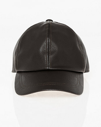Leather-Like Baseball Cap