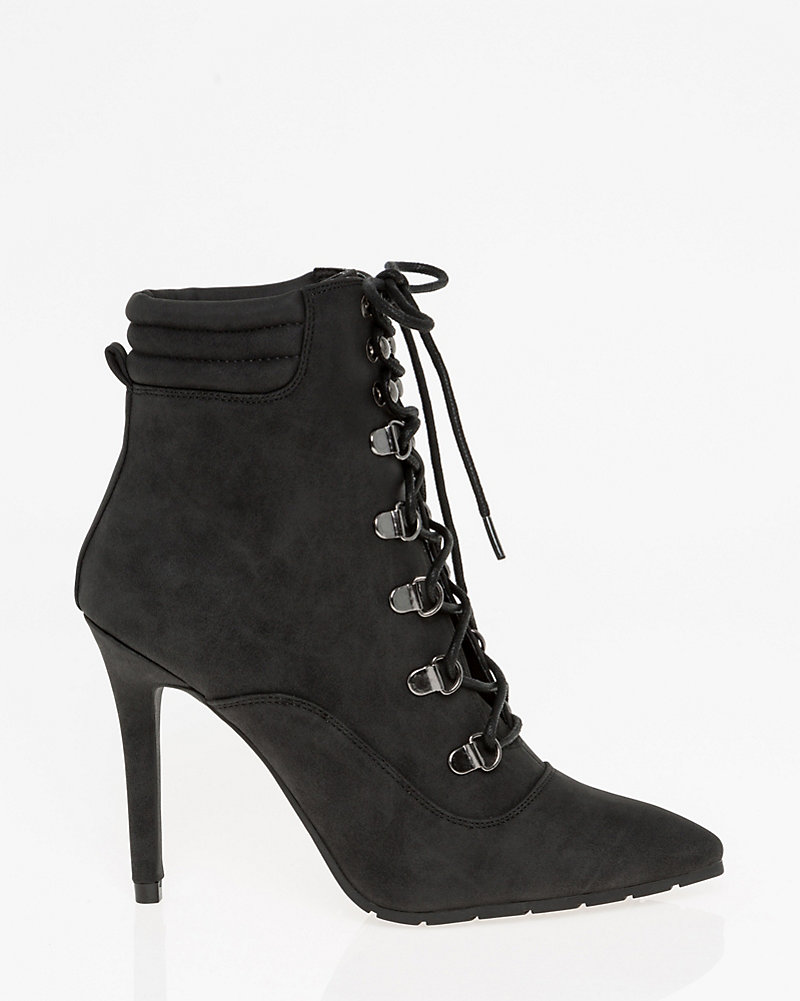 b983e20bd6de Lace-Up Pointy Toe Ankle Boot