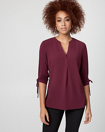 Crêpe de Chine V-Neck Top