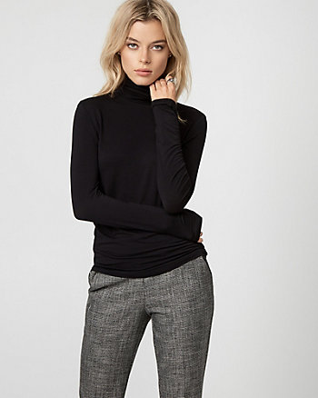 Viscose Blend Turtleneck Top