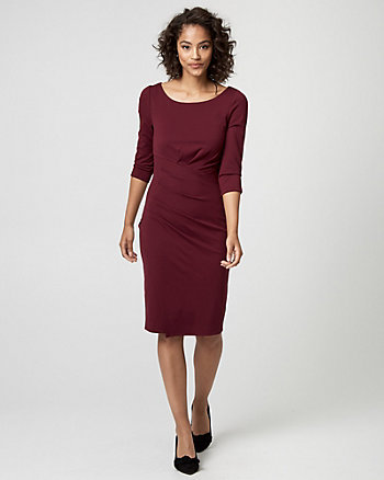 Ponte Crew Neck Sheath Dress