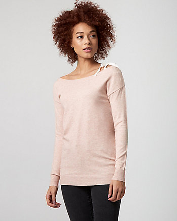 Brushed Viscose Boat Neck Sweater