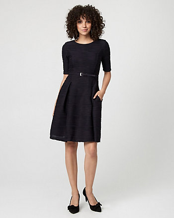 Textured Knit Fit & Flare Dress
