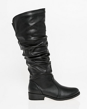 Ruched Knee-High Boot