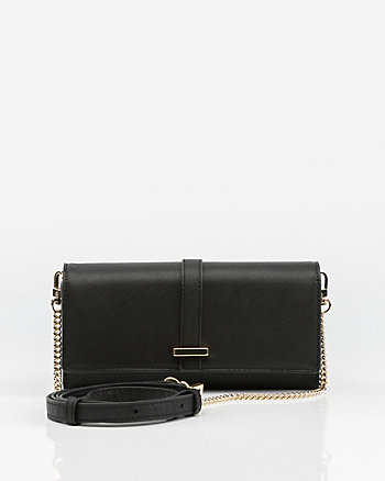 Saffiano Faux Leather Wallet