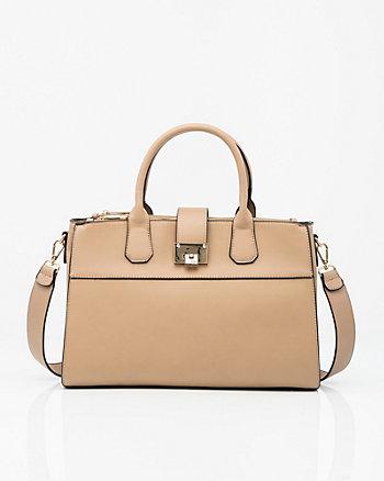 Leather-Like Satchel