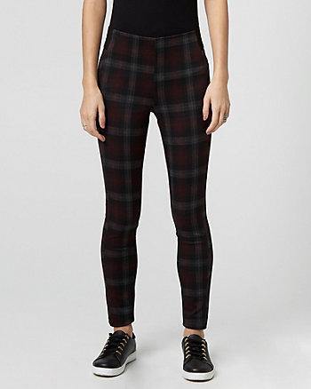 Check Print Ponte Skinny Pant