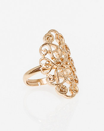 Metal Filigree Ring