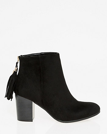 Tassel Almond Toe Ankle Boot