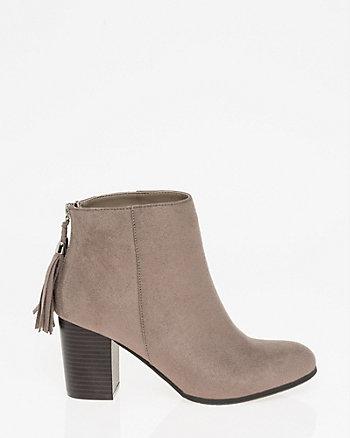 Tassel Almond Toe Ankle Boot