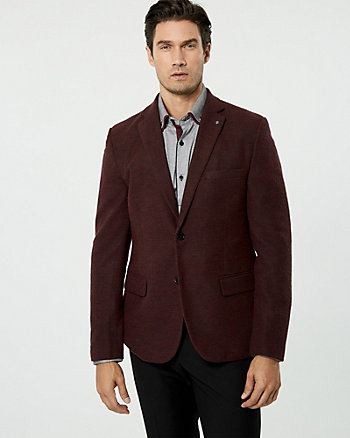 Knit Slim Fit Blazer