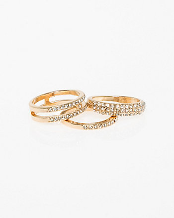 Set of Three Stackable Rings