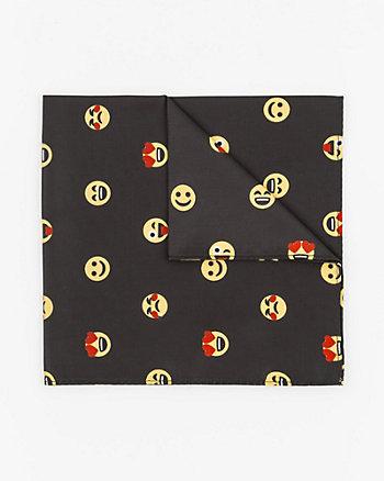 Emoji Print Woven Pocket Square