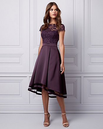 Lace & Satin Illusion Dress