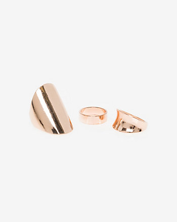 Set of Three Metal Rings