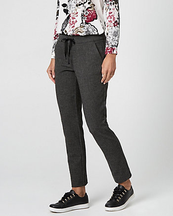 Tweed Drawstring Track Pant
