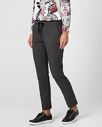 Tweed Drawstring Track Pant
