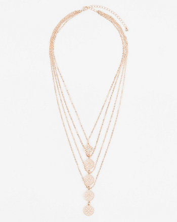 Multi-Strand Filigree Necklace