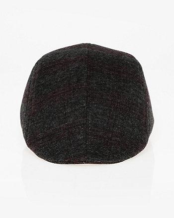 Check Print Woven Ivy Cap