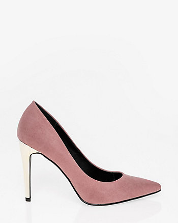 Electroplated Pointy Toe Pump