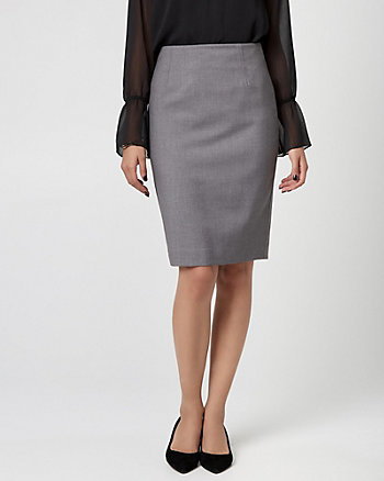 Viscose Blend Pencil Skirt