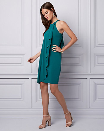 Jersey Halter Cocktail Dress