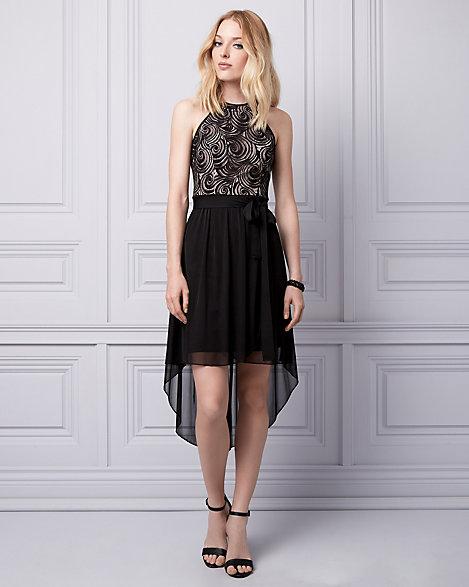 Vs logo lace halter dresses