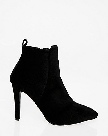 Embossed Velvet Ankle Boot