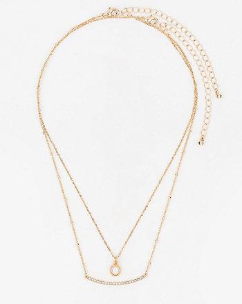 Set of Two Gem Necklaces