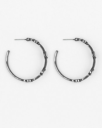 Pearl-Like Hoop Earrings