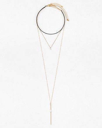 Set of Three Choker Necklaces