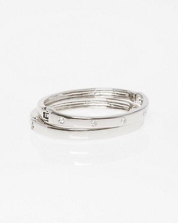 Set of Two Hinge Bracelet
