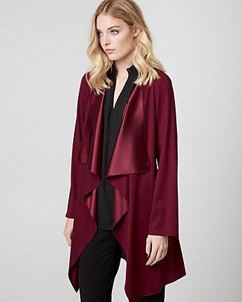 Satin Open-Front Robe Jacket