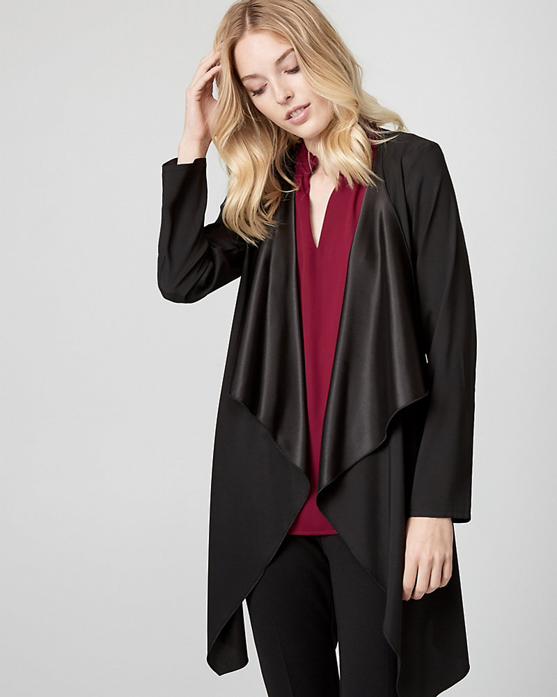 c92779eb78ad1 Satin Open-Front Robe Jacket | LE CHÂTEAU