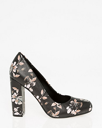 Floral Print Almond Toe Pump