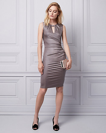 Shiny Knit Cocktail Dress