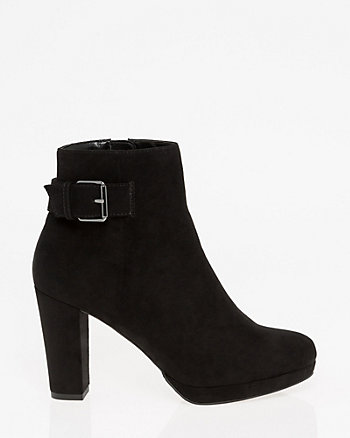 Almond Toe Platform Ankle Boot