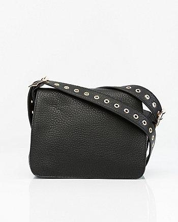 Leather-Like Crossbody Bag