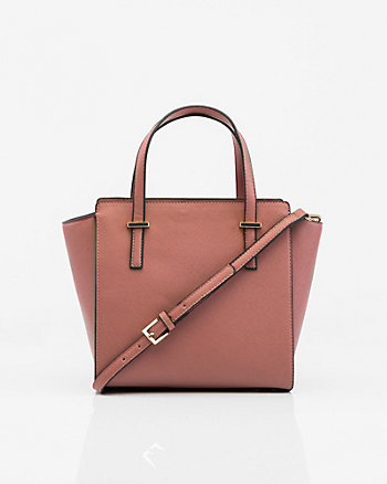 Saffiano Leather-Like Satchel