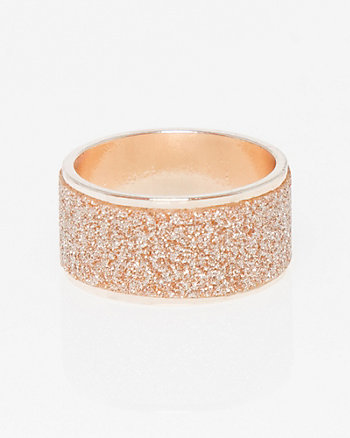 Glitter & Metal Wide Band Ring
