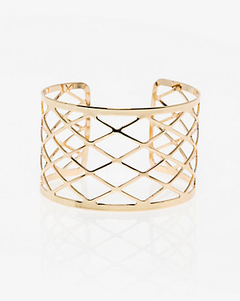 Criss-Cross Open Cuff Bracelet