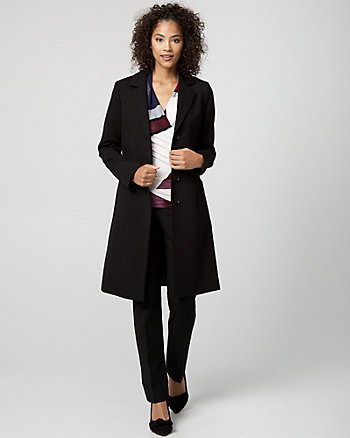 Ponte Notch Collar Coat