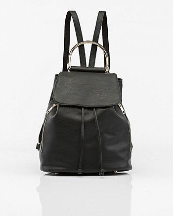 Leather-Like Backpack